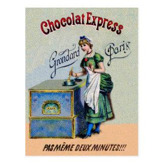 Vintage Chocolate Advertising Cooking Postcard