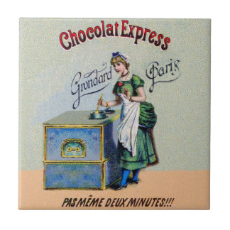 Vintage Chocolate Advertising Cooking Small Square Tile