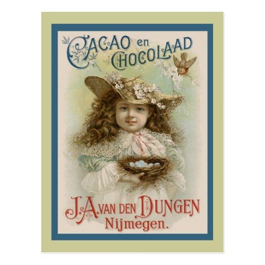Vintage Chocolate Advertising Postcard