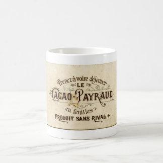 Vintage chocolate cacao advert (retro café grunge) basic white mug