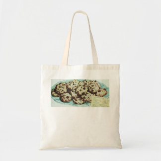 Vintage Chocolate Chip Cookie Recipe Photo 50s Budget Tote Bag