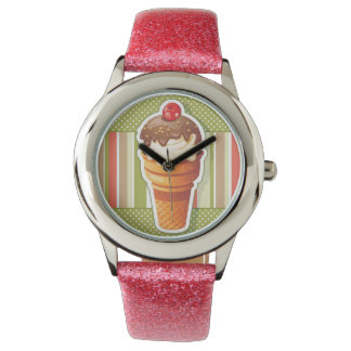 Vintage Chocolate ice cream Wristwatch
