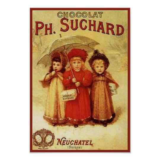 Vintage Chocolate Ph. Suchard Ad Poster