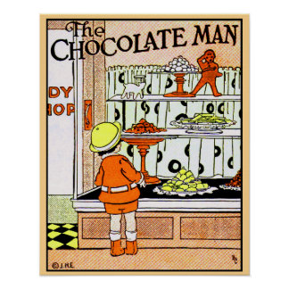 Vintage Chocolate Shop Candy Store Goodies Posters