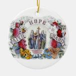 Vintage Christian Art Faith Hope Charity 1874