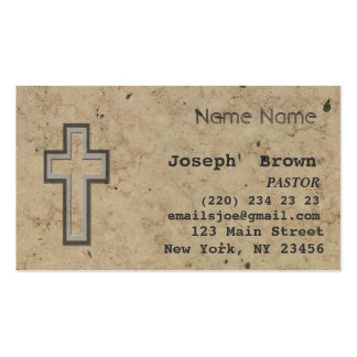 Vintage Christian Cross Jesus Spiritual Ministry Pack Of Standard Business Cards