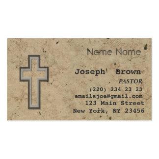 Vintage Christian Cross Jesus Spiritual Ministry Pack Of Standard Business Cards
