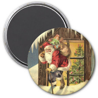 Vintage : Christmas - 7.5 Cm Round Magnet