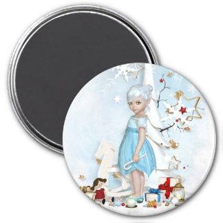 Vintage : Christmas - 7.5 Cm Round Magnet