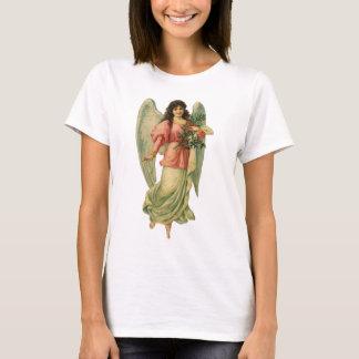 Vintage Christmas Angel, Angelic Victorian Die Cut T-Shirt