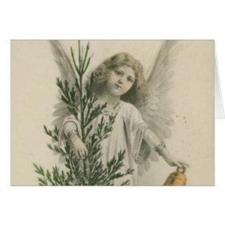 Vintage Christmas Angel Card