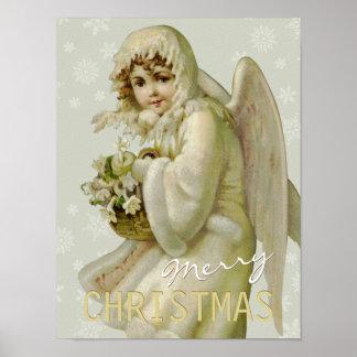 Vintage Christmas angel CC0619 Cardstock Poster