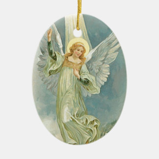 Vintage Christmas Angel Fine Art Christmas Ornament