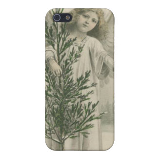 Vintage Christmas Angel iPhone 5/5S Cases