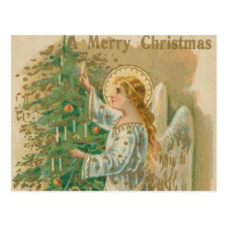 Vintage Christmas Angel Post Card