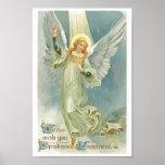 Vintage Christmas Angel Poster