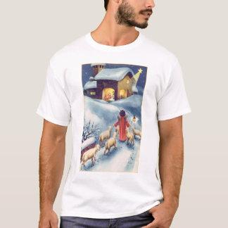 Vintage Christmas Angel Shepherd Nativity T-Shirt