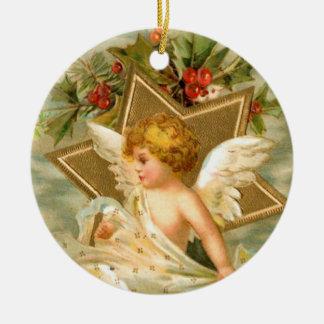 Vintage Christmas Angel Star Christmas Ornament