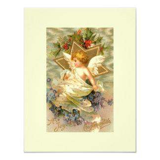 Vintage Christmas Angel Star Custom Announcement