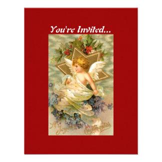 Vintage Christmas Angel Star Invite