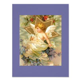 Vintage Christmas Angel Star Custom Invite