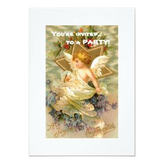 "Vintage Christmas Angel Star 5"" X 7"" Invitation Card"