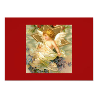 Vintage Christmas Angel Star Personalized Announcement