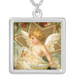 Vintage Christmas Angel Star Necklace