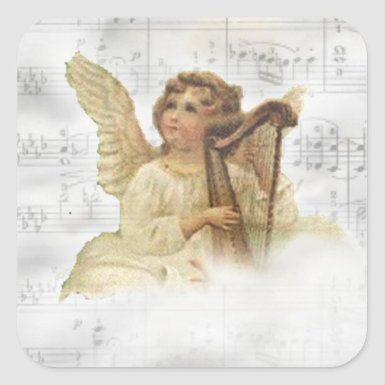 Vintage Christmas Angel Sticker