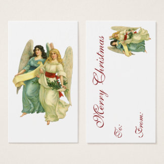 Vintage Christmas, Angelic Victorian Angels Business Card