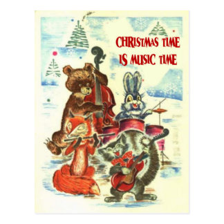 Vintage Christmas, Animal music group Postcard