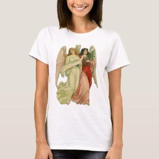 Vintage Christmas, Antique Victorian Angel Die Cut T-Shirt