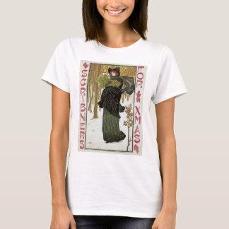Vintage Christmas Art Nouveau Scribners Cover 1895 T-Shirt