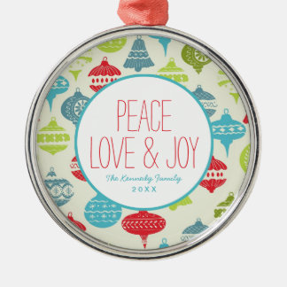 Vintage Christmas Background Christmas Ornament