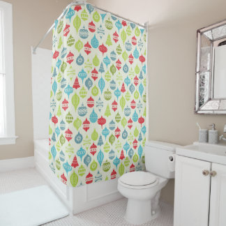 Vintage Christmas Background Shower Curtain