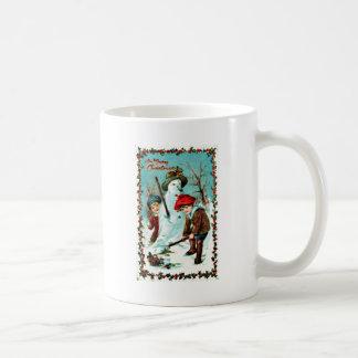 Vintage Christmas Basic White Mug