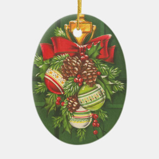 Vintage Christmas Bauble Customizable Christmas Ornament