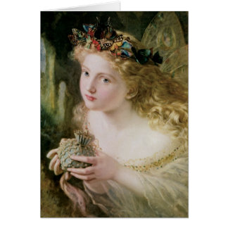 Vintage Christmas, Beautiful Fairy by Anderson Greeting Card