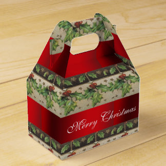 Vintage Christmas, Beautiful, Holiday Favour Box