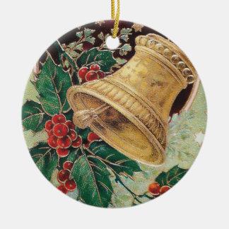 Vintage Christmas Bell Christmas Ornament