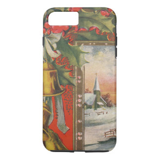 Vintage Christmas, Bells, Holly, iPhone 7 Case