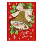Vintage Christmas Bells Postcard