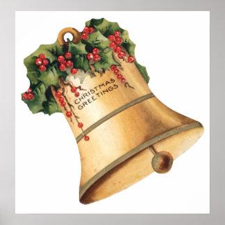 Vintage Christmas Bells Season s Greetings Posters