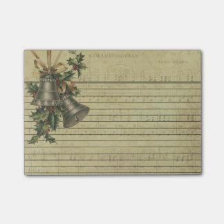 Vintage Christmas Bells & Sheet Music Note Pads