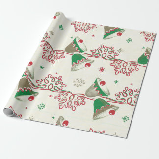 Vintage Christmas Bells Wrapping Paper