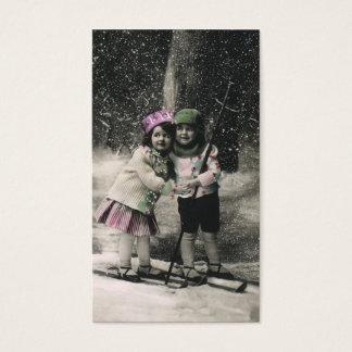 Vintage Christmas, Best Friends on Skis