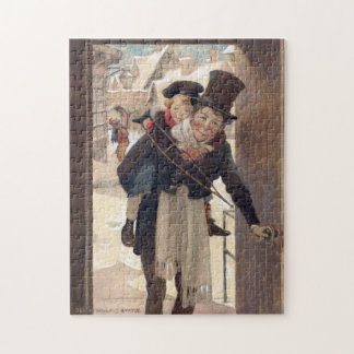 Vintage Christmas by Jessie Willcox Smith Jigsaw Puzzle