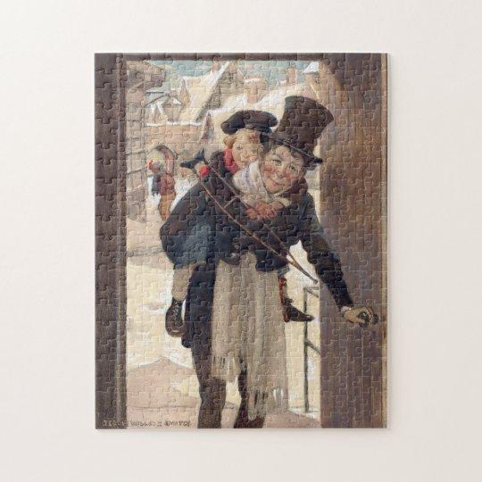 Vintage Christmas by Jessie Willcox Smith Jigsaw Puzzle