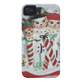 Vintage Christmas Candy Cane Family iPhone Case iPhone 4 Cover