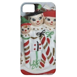 Vintage Christmas Candy Cane Family iPhone Case iPhone 5 Cover
